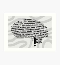The Human Mind Art Print