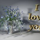 I love you-petunias by Annika Strömgren