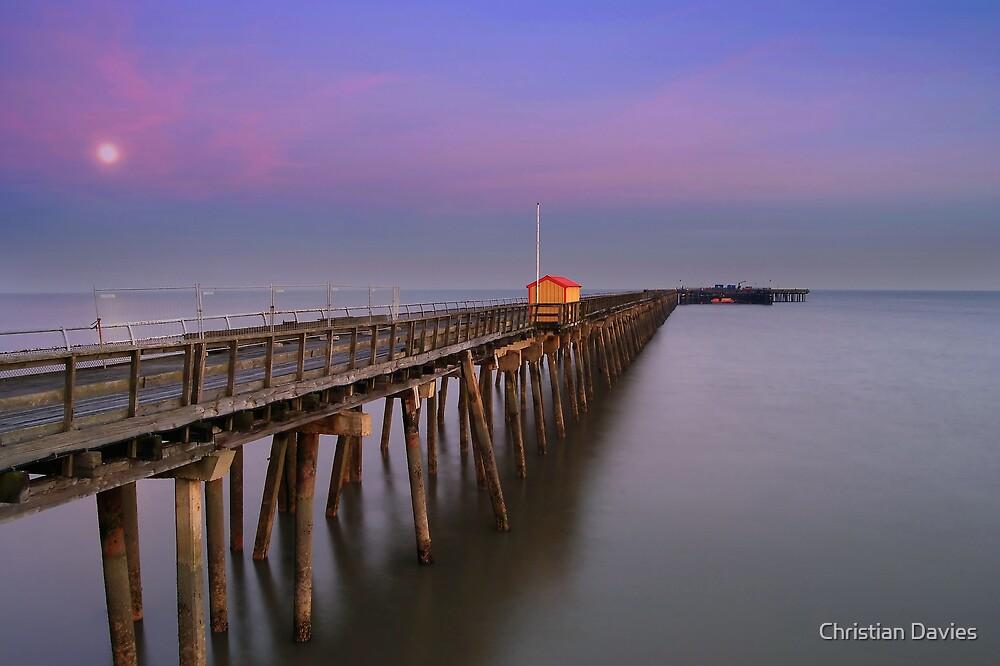 Walton Pier by Moonlight by Christian Davies