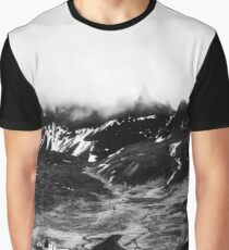 Looming Oxnadalur Fog - Black & White Graphic T-Shirt