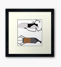 Gravity and Portal Gun Framed Print
