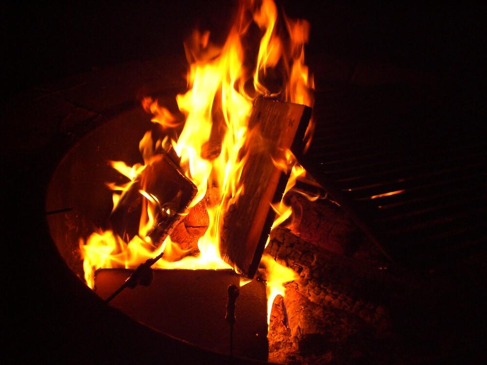 dancing flames by Ellaine Walker