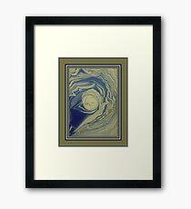 Sleepy Man In the Moon Framed Print