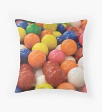 Bubble Gum Macro Throw Pillow