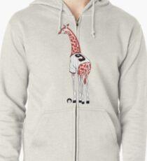 Belt Giraffe (Textless) Zipped Hoodie