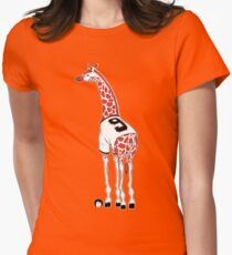 Belt Giraffe (Textless) Women's Fitted T-Shirt
