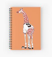 Belt Giraffe (Textless) Spiral Notebook