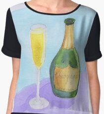 Champagne Celebrate Congratulations Women's Chiffon Top