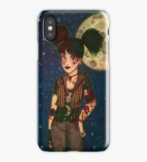 Goth Girl at Night iPhone Case