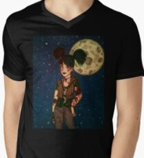 Goth Girl at Night Men's V-Neck T-Shirt