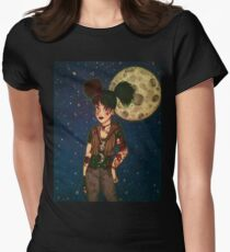 Goth Girl at Night Women's Fitted T-Shirt