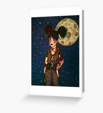 Goth Girl at Night Greeting Card