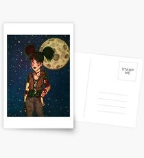 Goth Girl at Night Postcards