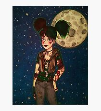 Goth Girl at Night Photographic Print