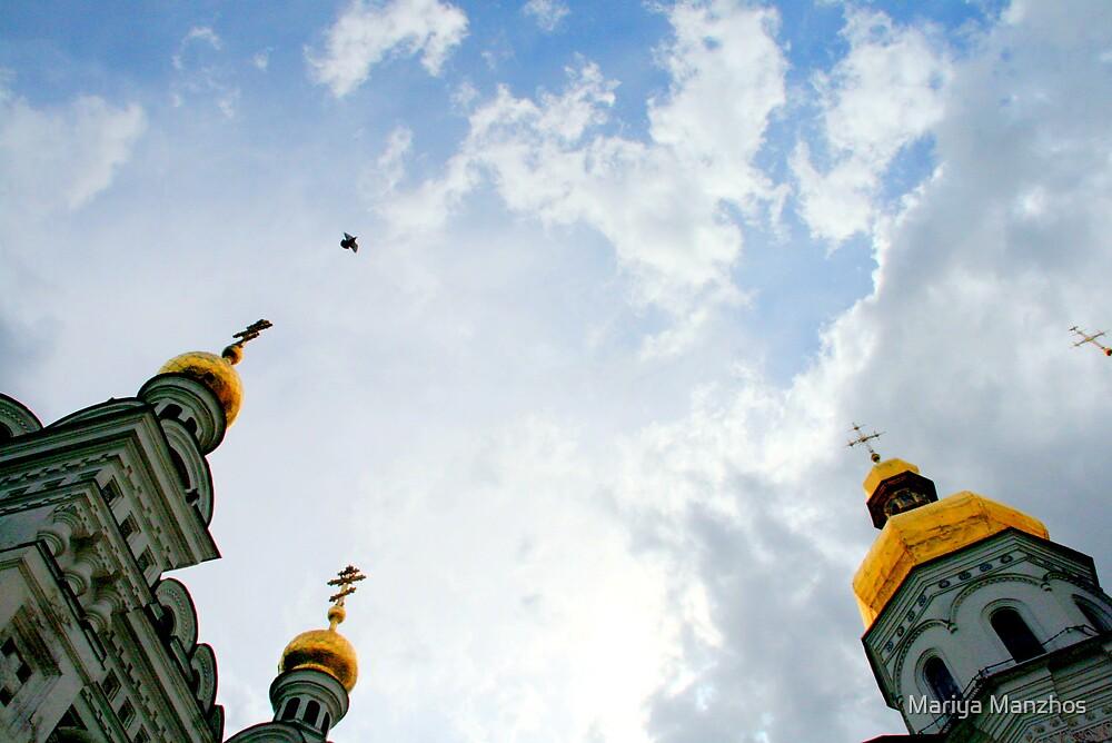 Skies over Pechers'ka Lavra by Mariya Manzhos