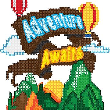 Cross Stitch Pattern Needlework Crafting Adventure by Top10Merch