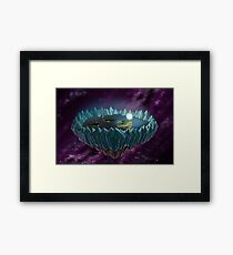 The Flat Earth Framed Print