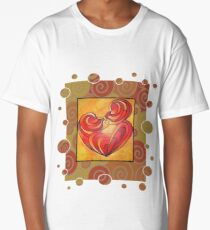 Kissing Couple Embrace And Form A Heart Vector Long T-Shirt