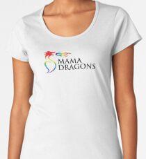 Mama Dragons Logo (Black Letters) Women's Premium T-Shirt