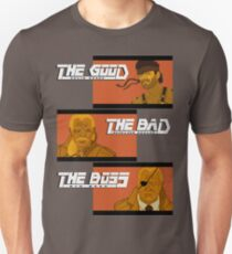 The Good, The Bad and The Boss - A Metal Gear Movie Unisex T-Shirt