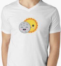 Cute Kawaii Solar Eclipse Cartoon T-Shirt