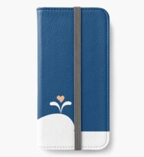 Whale in Blue Ocean with a Love Heart iPhone Wallet/Case/Skin