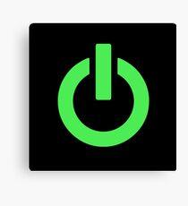 Power Button (green) Canvas Print