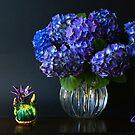 Blue Hortensias by Gilberte