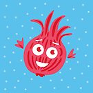 Cute Red Onion #digistickie by Boriana Giormova