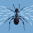 Weird Abstract Flying Ant by Boriana Giormova