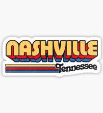Pegatina Nashville, TN | Rayas de la ciudad