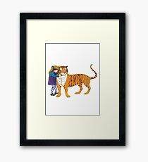 The Tiger Who Came to Tea Framed Print