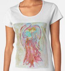 Guardian Angel with Wings White Archangel Christmas decor Women's Premium T-Shirt