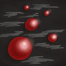 Shiny Red Planets by Boriana Giormova