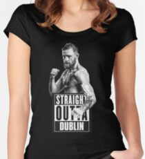 Conor McGregor Straight Outta Dublin Women's Fitted Scoop T-Shirt