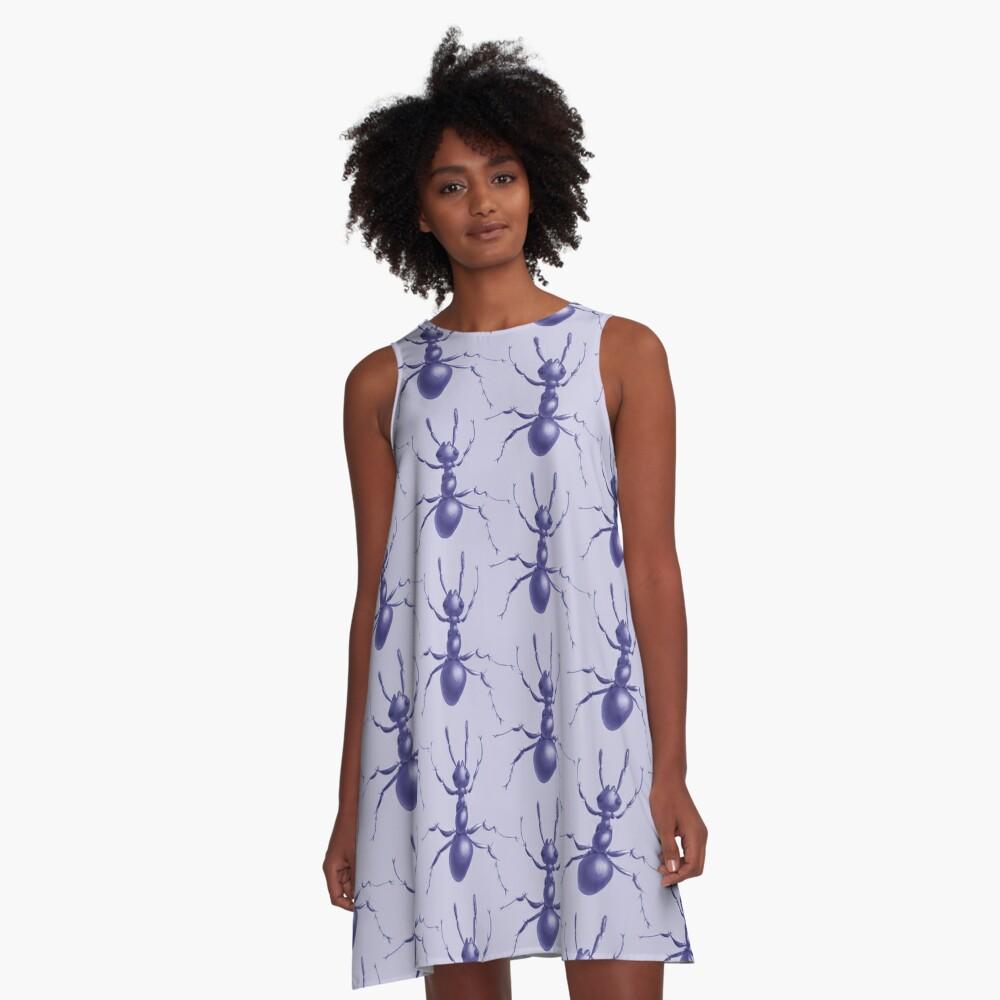 Purple Ant A-Line Dress Front