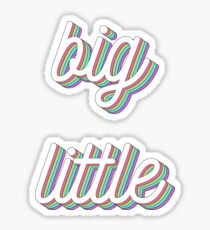 3D layered - big little Sticker