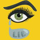 Green Lying Eye Crying In Tears by Boriana Giormova