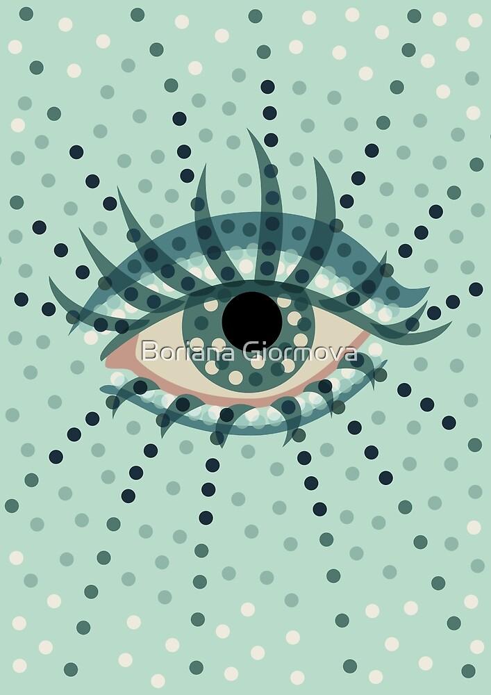 Eye art with dots by Boriana Giormova