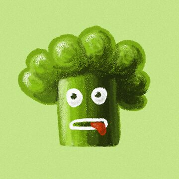 Stressed Out Funny Broccoli by azzza