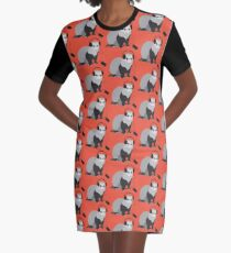 Funny Musical Ferret Graphic T-Shirt Dress