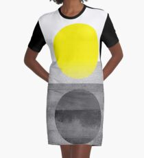 Gelb #abstract T-Shirt Kleid