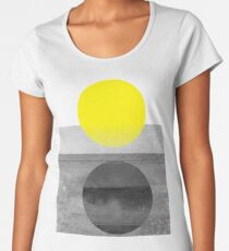 Yellow #abstract  Women's Premium T-Shirt