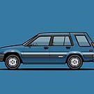 Toyota Tercel SR5 4WD Wagon AL25 (blue) by Tom Mayer