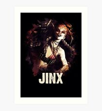 League of Legends JINX Art Print