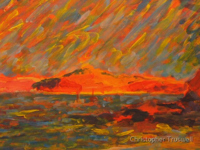 port stephens storm by Christopher Truswell