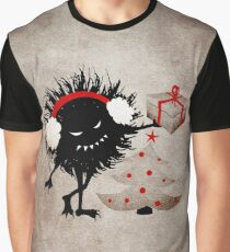 Evil Character Gives Christmas Present Graphic T-Shirt