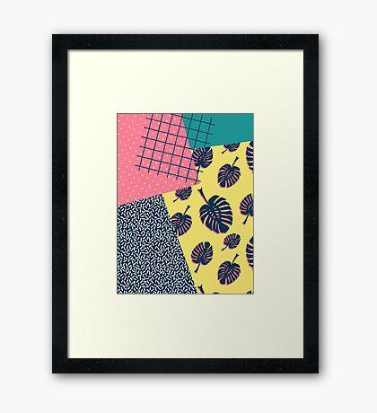 90s Monstera #redbubble #decor #buyart Framed Print