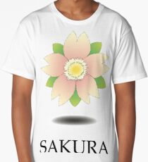 Sakura logo Long T-Shirt