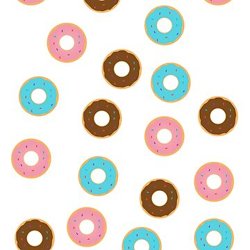 Colorful Donut Pattern by Sopheric